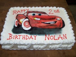 Lightning McQueen custom birthday cake