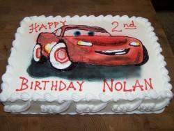 Lightning McQueen custom birthday cake