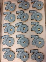 Birthday & Anniversary Custom Cut Out Cookies in Santa Rosa CA
